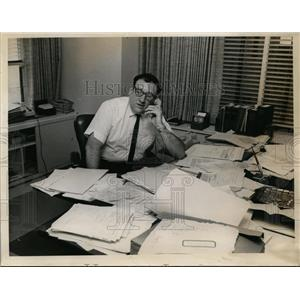 1966 Press Photo Attorney Beruard A. Berkman at his office - nee86883