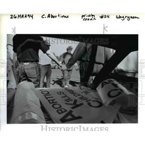 1994 Press Photo Demonstration, Oregon, Abortion - orb07542