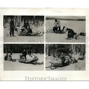 Press Photo Skeeter Snowmobiles for family fun with Evinrude motors - nee86760