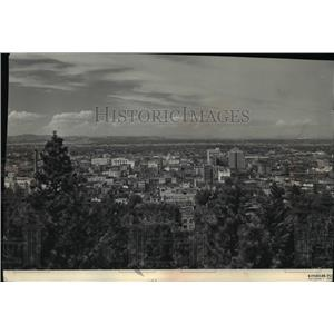 1957 Press Photo Spokane City Air views - spa03114
