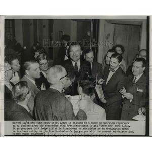 1952 Press Photo Senator Henry Cabot Lodge of Massachusetts in DC - nee86376