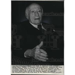 1973 Wire Photo Adolph Zukor founder of Paramount Pictures. - cvw07220