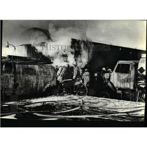 1981 Press Photo Blast and two alarm fire gutted the McKee Electric Co. plant