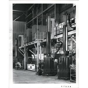 1968 Press Photo Three Consumble electrode at Republic Steel Corp.South Division