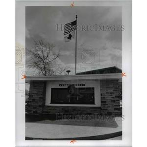 1974 Press Photo Honor roll at City hall, Maple Heights Memorial, Ohio