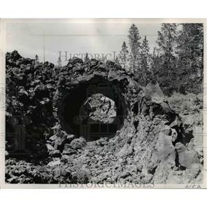 1957 Press Photo Lava beds-Central Oregon - orb75454