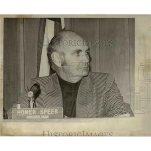 1978 Press Photo Homer Speer - ora85247