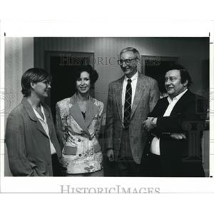 1991 Press Photo Book Authors Kaye Gibbons, Helen Borowitz, Albert Borowitz.