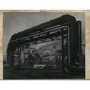 1959 Press Photo The Republic Steel Corporation blast furnaces near Clark Avenue