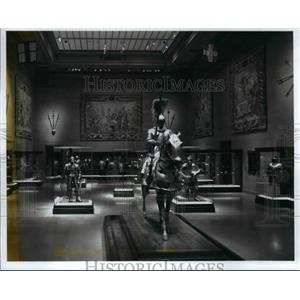 1999 Press Photo Renovations at the Armor Court of the Cleveland Museum of Art