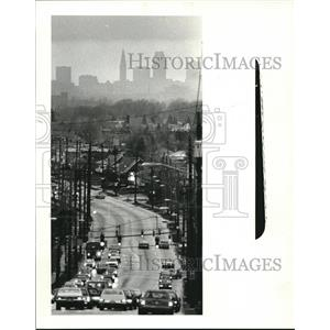 1985 Press Photo Clouds Over The City From State Road - cva94594