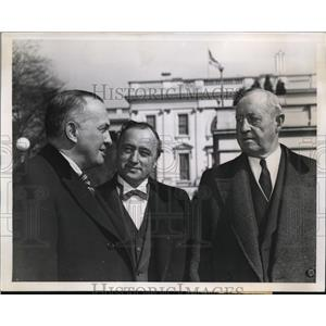 1939 Press Photo T.A. Rickert, Matthew Woll, And Harry Bates At The White House