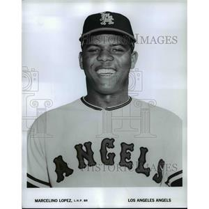 1965 Press Photo Marcelino Lopez, L.H.P. BR, Los Angeles Angels - cvb67679