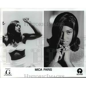1991 Press Photo Singer Mica Paris
