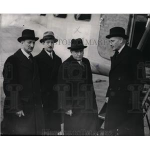1938 Press Photo French Prime Minister M Edouard Deladier M G Bonnet M Cordin