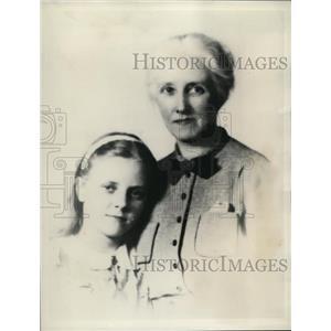 1939 Press Photo Mrs John Etchinson & Daughter Were on Steamer That Sank