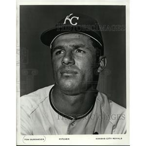 1971 Press Photo Tom Burgmeier, Pitcher, Kansas City Royals - mjs02568