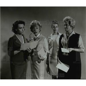 1962 Press Photo Claire Bloom, Glynis Johns, Jane Fonda and Shelley Winters