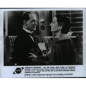 "1993 Press Photo ""Dracula's Daughter"" shows on the Sci-Fi Channel"
