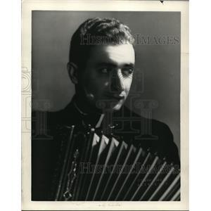1938 Press Photo Joe Baldi Accordion Player