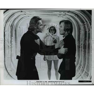 1976 Press Photo Richard Jordan, left and Michael York in Logan's Run