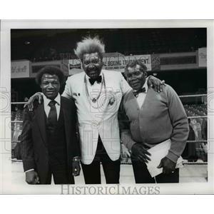 Press Photo Boxing Tournament Scene with Don King - cvb67144