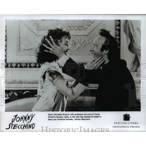 1993 Press Photo Nicoletta Braschi and Roberto Benigni in Johnny Stecchino
