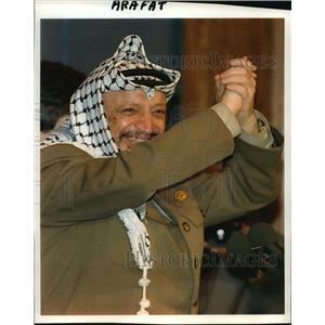 1993 Press Photo Palestine Liberation Organization Chairman Yasser Arafat