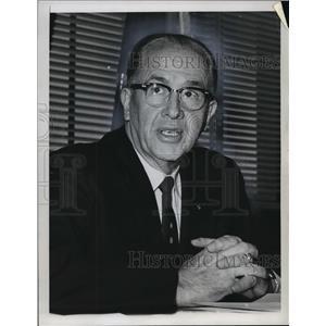 1968 Press Photo Ezra Taft Benson, Secretary of Agriculture  - mja07978