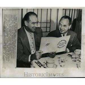 1952 Press Photo Senator Joseph R McCarthy breakfasted with Gov Walter J Kohler