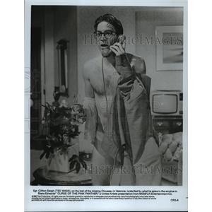 """1983 Press Photo Tedd Wass as Sgt. Clifton Sleigh in """"Curse of the Pink Panther"""""""