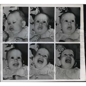 1950 Press Photo 7 month old Eddie Johnson - mja12664