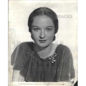 1934 Press Photo Evelyn Venable Hairdress Lenore Sabine - RRR71839