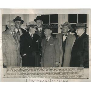 1950 Press Photo Eisenhower Railroad Executives - RRR18381