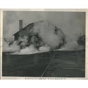1950 Press Photo Tear Gas Bombs Set Off Smoke Screen - RRR30297