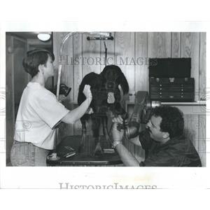 1991 Press Photo Bridget Bean Bob Bertucci Bomber - RRR24085