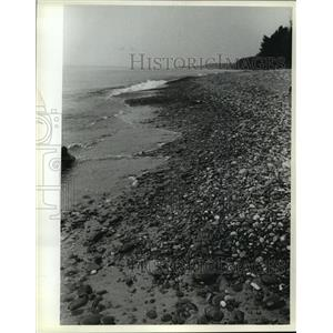 1981 Press Photo Rocky Lake Superior shore in Agate Beach Park. - mja42702