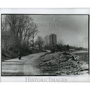 Press Photo Lake Michigan Erosion Damages - mja42025
