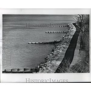 Press Photo Lake Michigan Erosion Prevention South Shore Area - mja42021