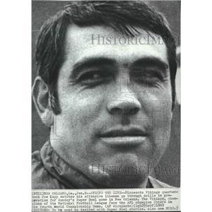 1969 Press Photo Minnesota Vikings quarterback Joe Kapp