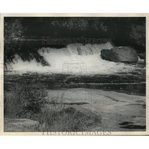 "1966 Press Photo ""Bear Trap Falls"" located in Menominee County. - mja40915"