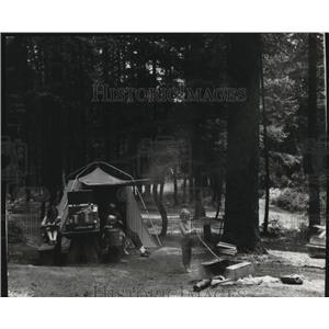 1968 Press Photo Camping at Benewah Lake in Idaho - spa35877