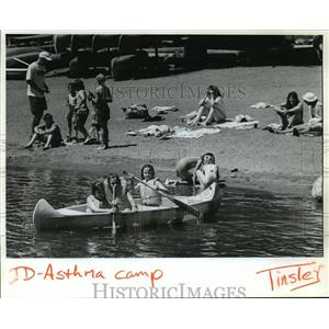 1993 Press Photo Children with asthma do activities at Idaho Camp - spa36358