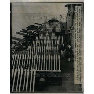 1950 Press Photo WWII rocket launchers Hungnam Korea - RRU34057