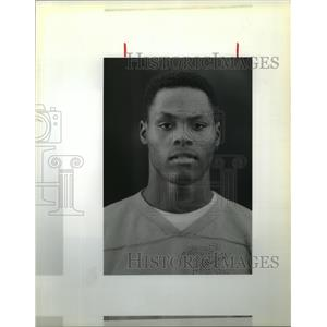 1989 Press Photo Richard Atkins, Lawless High Football Player - noa21052
