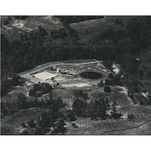 1955 Press Photo Alabama-Ozark's new million-gallon sewage plant. - abnx01964