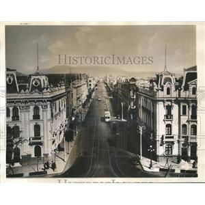 1940 Press Photo Nicolas De Pierola looking from plaza San Martia in Lima Peru
