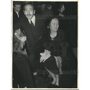 1935 Press Photo Hollywood couple Adolphe Menjou & Verree Teasdale well again