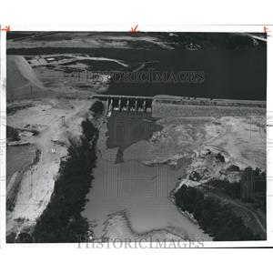 1962 Press Photo Alabama-Aerial view of Weiss Dam construction. - abnx02164