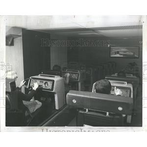 1967 Press Photo Driver trainig Car